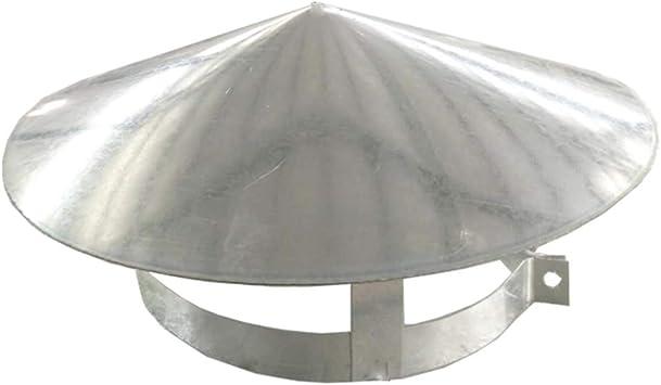 YARNOW Tapa de La Chimenea de Acero Inoxidable Tapa de La Chimenea a Prueba de La Intemperie Cubierta de La Pila de Humo Cubierta de Tubo de Escape Tapa de Lluvia Cubierta de Ventilaci/ón