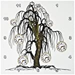3dRose DPP_102676_1 Steampunk Weeping Tree Design-Wall Clock, 10 by 10-Inch 5