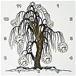 3dRose DPP_102676_1 Steampunk Weeping Tree Design-Wall Clock, 10 by 10-Inch 5