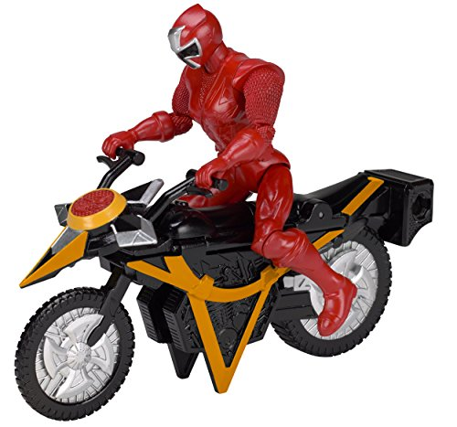 Power Rangers Super Ninja Steel Mega Morph Cycle, Red ()
