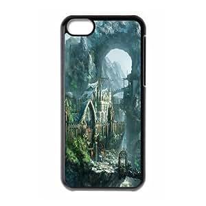[H-DIY CASE] For Iphone 5c -Fairy Village & Castle-CASE-19