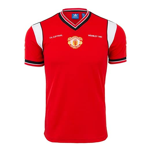 e582dc950 Image Unavailable. Image not available for. Color  Adidas Manchester United  JERSEY 85-RED ...