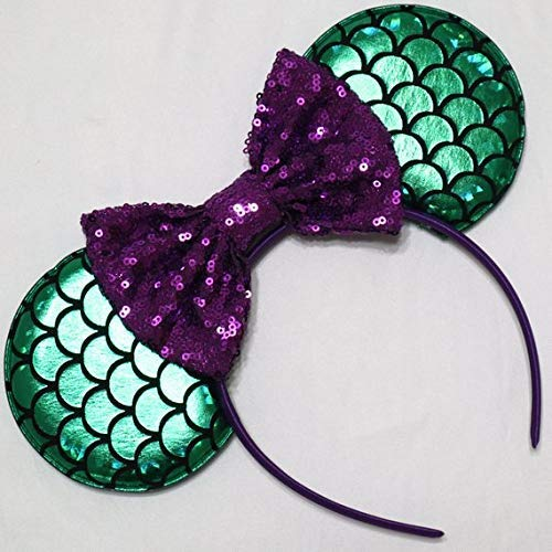 CL GIFT Ariel Mickey Ears, Ariel Ears, Littler Mermaid Ears, Little Mermaid Mickey Ears, Purple Minnie Ears ()