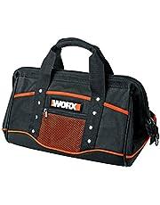 WORX WA0076 opbergtas – gereedschapskoffer zonder gereedschap in eenvoudig zwart met dubbele draaggreep – voor het praktisch opbergen van gereedschap