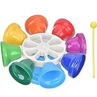 8 tonos de campana de mano para niños Rainbow Color Metal Wind Chime Pandereta Juguetes/Regalo para niños