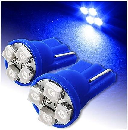 6000 K 12 V y 5 W 2 Luces LED rojas de posici/ón T10 4 SMD para autom/óviles