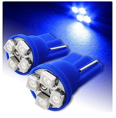 Luces de posició n T10 4 SMD para coche: lá mpara LED color azul, 6000 K, 12 V, 5 W (2 unidades)