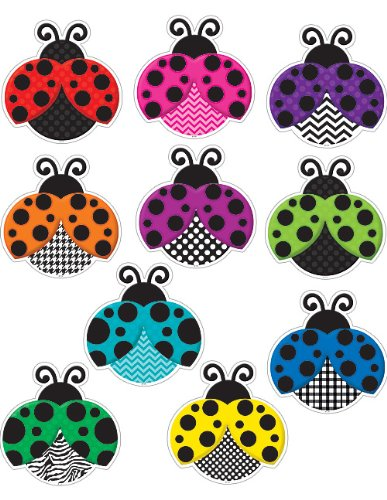 Teacher Created Resources Colorful Ladybugs Accents ()