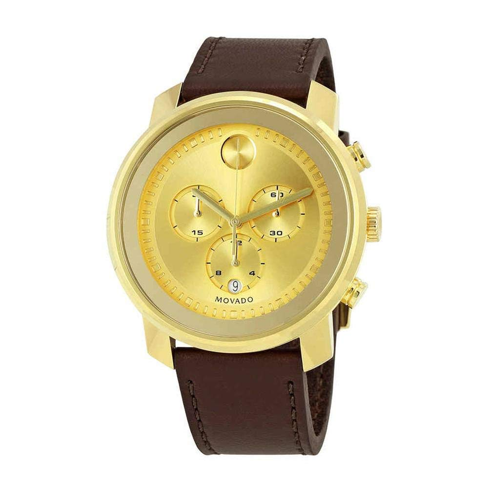 Movado Bold Gold Dial Chronograph Mens Watch 3600409