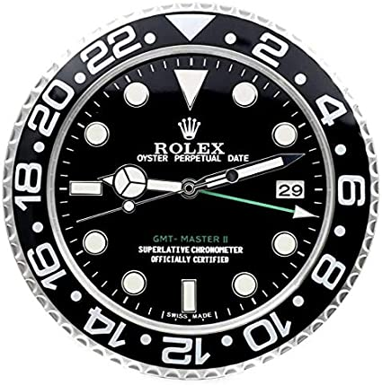 Rolex Rolex Submariner Hulk Rolex - Reloj de Pared (Bisel Verde)