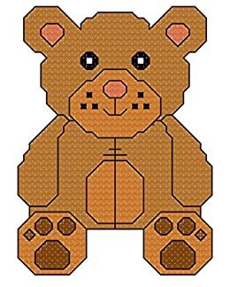 Amazon com: Teddy Bear cross stitch pattern/ chart - uses
