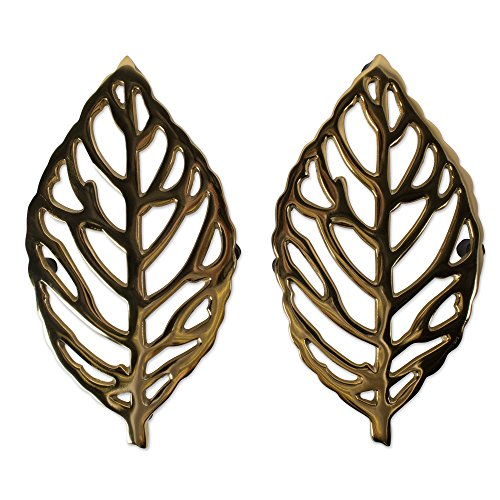 DII CAMZ10641 Cast Iron Leaf Trivet with Rubber Pegs for Hot Dishes, Kitchen or Dining Table, Set of 2, 10 x 5.5, 2 Pack