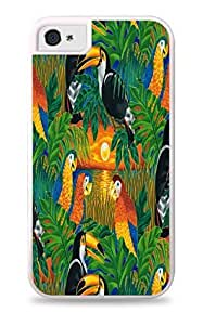 Best Diy Tropical Birds White 2-in-1 protective case cover with Silicone Insert for Apple iPhone 5 / RoDILBqVPNL 5S