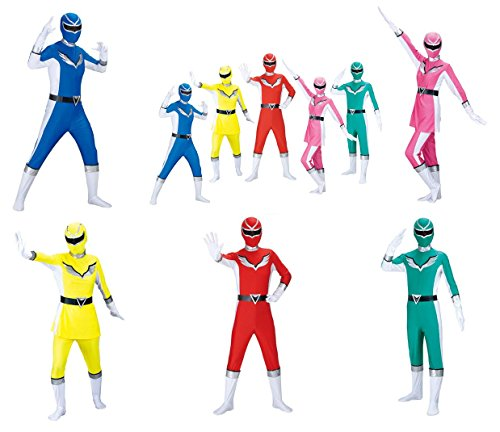 Uni Five Party Ranger Heroes Costume Sets (Halloween Zentai Suit Costume) - Feel The Power of The (Power Ranger Outfit For Adults)