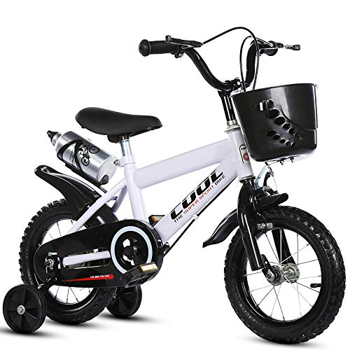 Children Bicycles,FOME 16in Wheels Kids Mountain Bike High Carbon Steel Kids Bicycle with Detachable Training Wheels Aluminum Alloy Kettle Front Basket for Kids 4-6 Years Old (Best Mountain Bike For 6 Year Old)