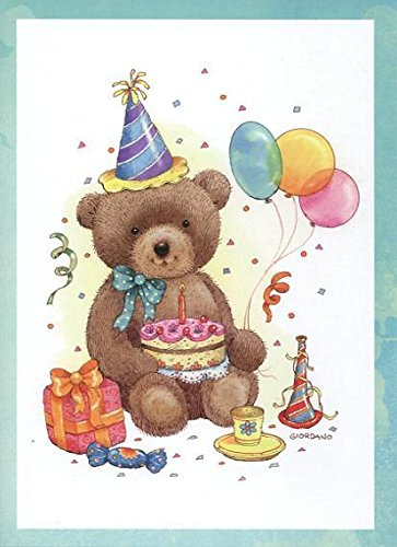 Amazon Com Children S Birthday Greeting Cards Teddy Bears 12 Count