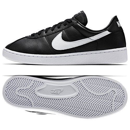 NIKE Bruin QS Leather '70s 842956-001 Black/White Swoosh Men's Shoes (Size 10)