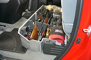 Du Ha 60053 Toyota Tundra Under Seat Storage Console Organizer Tan