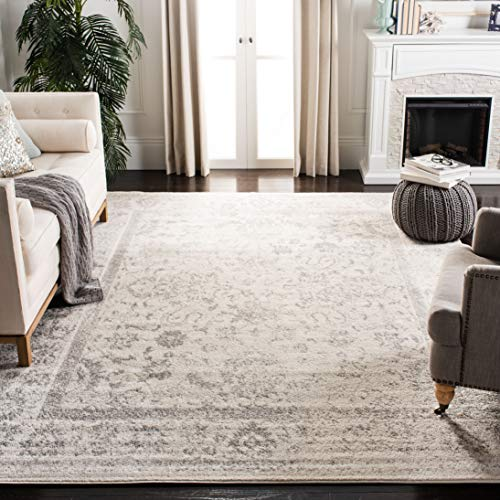 Safavieh Adirondack Collection ADR109C Ivory and Silver Oriental Vintage Distressed Area Rug (8' x 10') ()