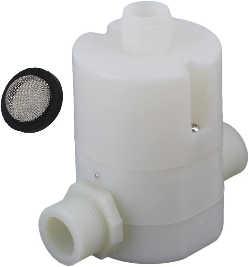 DLONY 1//4 Inlet Plastic Float Ball Valve Water Tank Water Float Valve