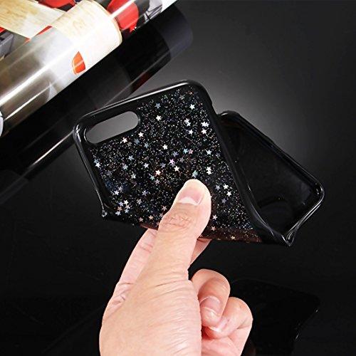 YAN Für iPhone 7 Plus Sterne Glitzer Powder Soft TPU Schutzhülle