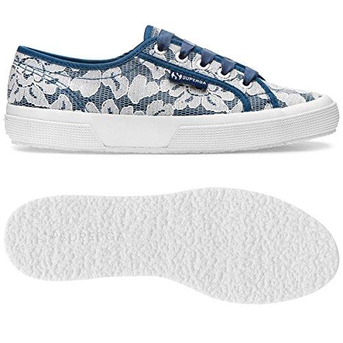 2750 Bludeepsea Superga Sneaker whitelace Synlealacew Donna 8dqqAYw