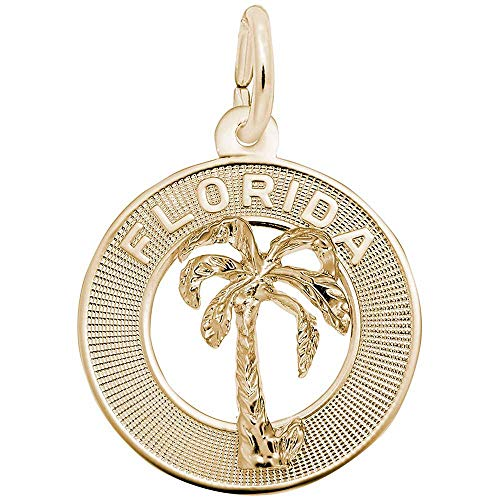 Florida Charm Gold Plated - Rembrandt Charms Florida Charm, Gold Plated Silver