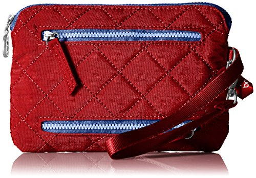 Baggallini Women's RFID Currency & Passport Organizer, red/navy, One Size (Holder Baggallini Card Credit)