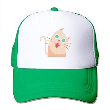 Ejdkdo Gato de Dibujos Animados Gatito Ajustable Gorras de Béisbol ...
