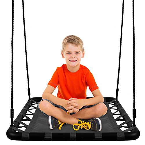 KHOMO GEAR - Extra Large 40'' x 30'' Platform Swing - Black by KHOMO GEAR