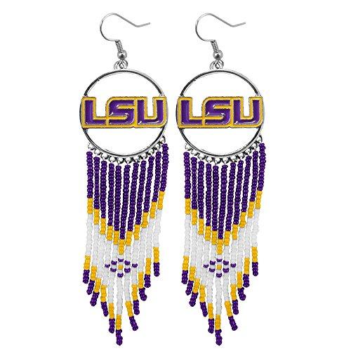 Lsu Tigers Game Day Earrings - Littlearth NCAA Dreamcatcher Earrings (LSU Tigers)