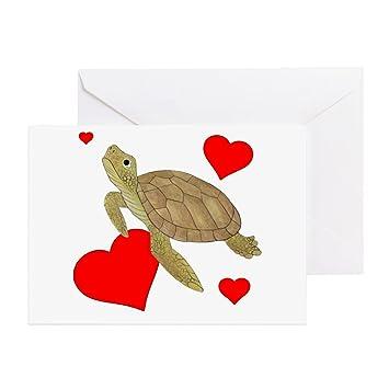 Amazon Cafepress Valentine Sea Turtle Greeting Cards