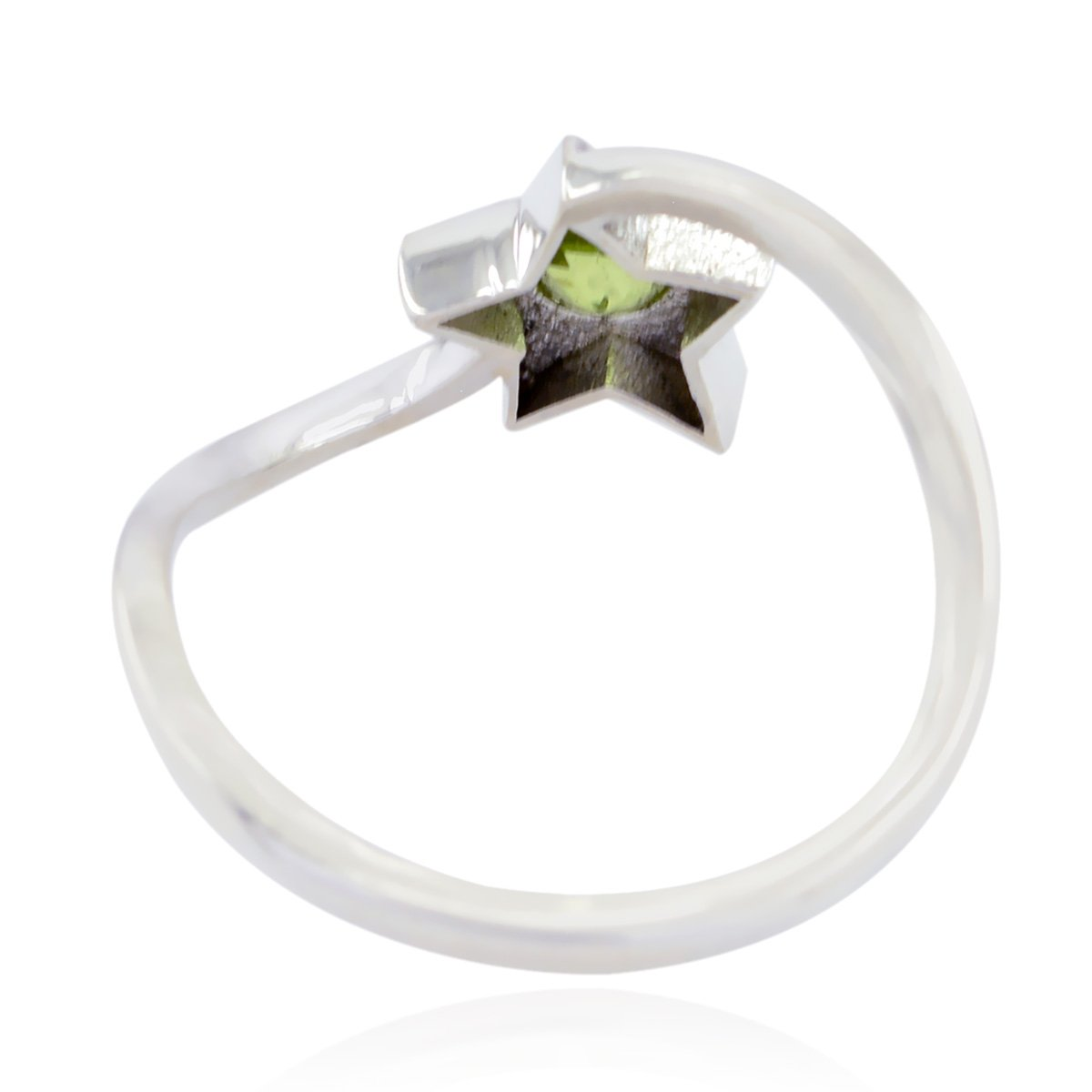 Great Jewelry Most Item Gift for Valentines Day top Ring Natural Gemstone Round Faceted Peridot Ring 925 Sterling Silver Green Peridot Natural Gemstone Ring