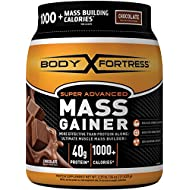 Body Fortress Super Advanced Whey Protein Powder Mass Gainer, Gluten Free, Chocolate, 2.25 lbs