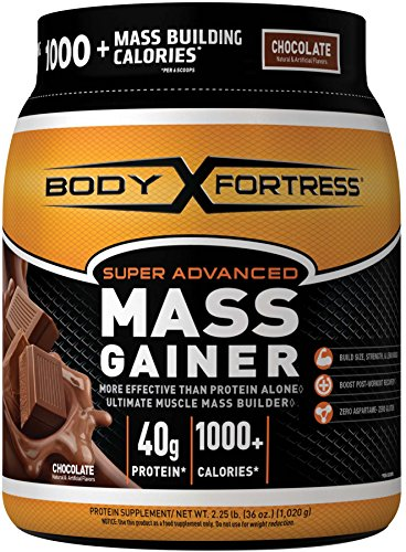 Body Fortress Super Advanced Mass Gainer, Chocolate, 2.25 Pounds 796433841463