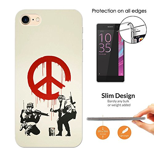 002267 - Banksy graffiti art peace sign soldier Design Apple iphone 8 plus 5.5