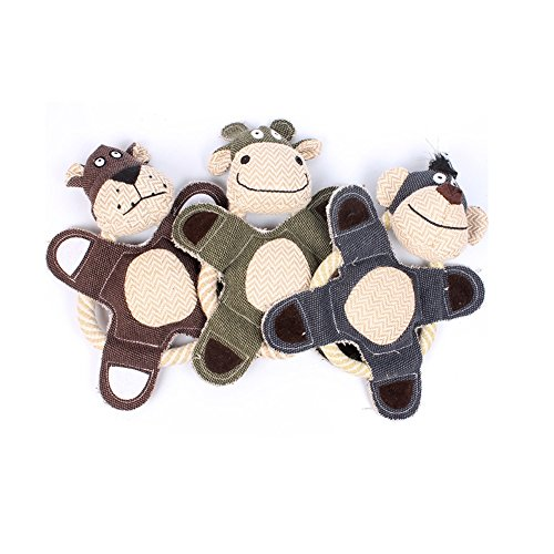 Stock Show Dog Flying Discs Squeaker Chew Toy Training Frisb