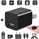 Hidden Camera,32GB 1080P HD Spy Camera charger with Motion Detection Loop Video Record for Home Office Security Surveillance(INCLUDE 32GB TF CARD)