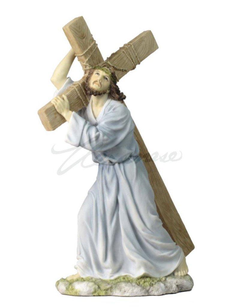 Jesus on the Way to Calvary Light Color Polystone