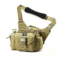 SHANGRI-LA Multi-functional Tactical Messenger Bag EDC Tactical Range Bag Camera Bag Assault Gear Sling Pack Shoulder Backpack MOLLE Modular Deployment Gun Holsters Cases Bags for Hunting Fishing Shooting