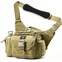 SHANGRI-LA Multi-functional Tactical Messenger Bag Tactical Range Bag Camera Bag Assault Gear Sling Pack Shoulder Backpack MOLLE Modular Deployment Gun Holsters Cases Bags for Hunting Fishing Shooting
