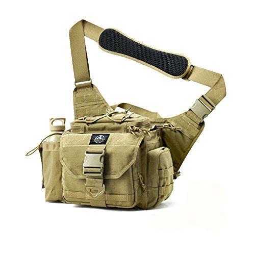 SHANGRI-LA Multi-functional Tactical Messenger Bag Tactical Range Bag Camera Bag Assault Gear Sling Pack Shoulder Backpack MOLLE Modular Deployment Gun Holsters Cases Bags Packs