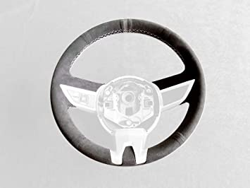 RedlineGoods Center Console Cover Compatible with Chevrolet Camaro 2010-15 Black Alcantara-Silver Thread