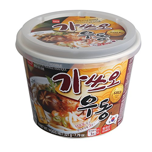 Japanese Style Cup Noodle Udon Fresh [Healthy, Convenient] Easy Microwaveable Cook Bowl in 3 Minutes / 7.79 oz per Meal (Pack of 6) - Dried Bonito Tuna (Katsuo) Flavor (Udon Japanese Style Noodles)