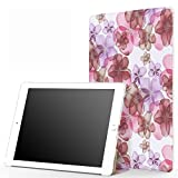iPad Pro 12.9 Case - MoKo Slim Lightweight Smart Shell Stand Cover with Auto Wake / Sleep for Apple iPad Pro 12.9 Inch iOS 9 2015 Release Tablet (NOT FIT iPad Pro 12.9 2017 Version), Floral PURPLE