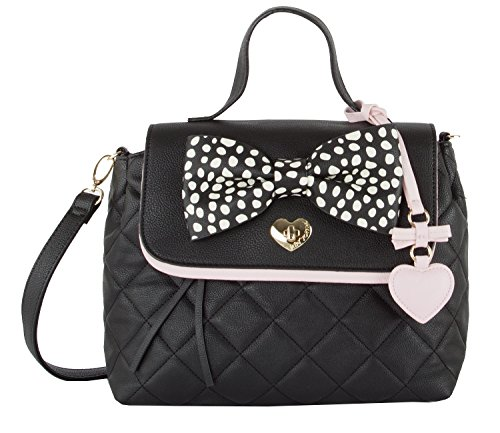 Betsey Johnson Be Mine Top Handle Satchel - Black Bb17250