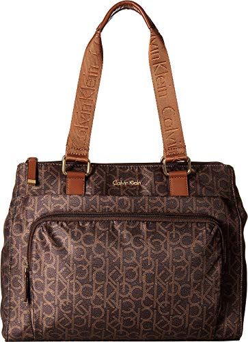 Calvin Klein Women's Belfast Nylon Tote Brown/Khaki/Luggage 2 Apparel by Calvin Klein