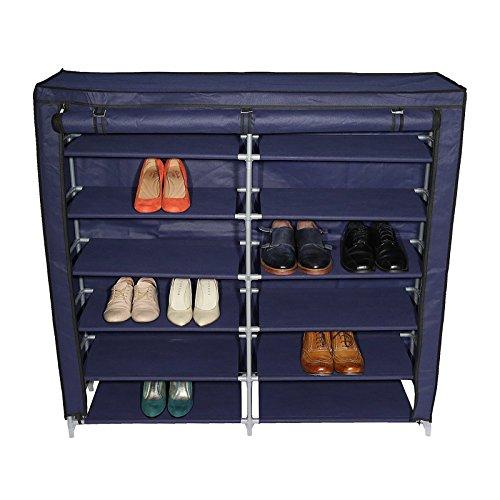 Smart-Home 7-Tier 36 Pair Portable Shoe Storage Cabinet