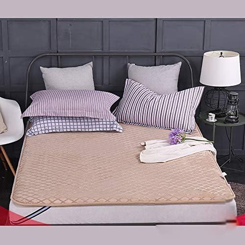 畳敷き マットレス プロテクター パッド 折りたためる ベッドのマット, とろみ 通気性 マットレストッパー 1 ツインサイズ パッドを睡眠 布団-E 120x200x5cm