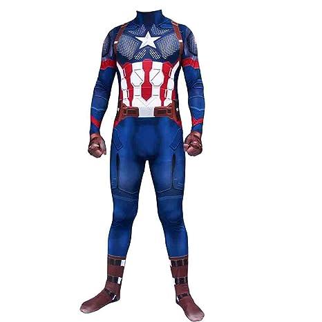 Capitán América Cosplay Traje Vengadores para Adultos de ...